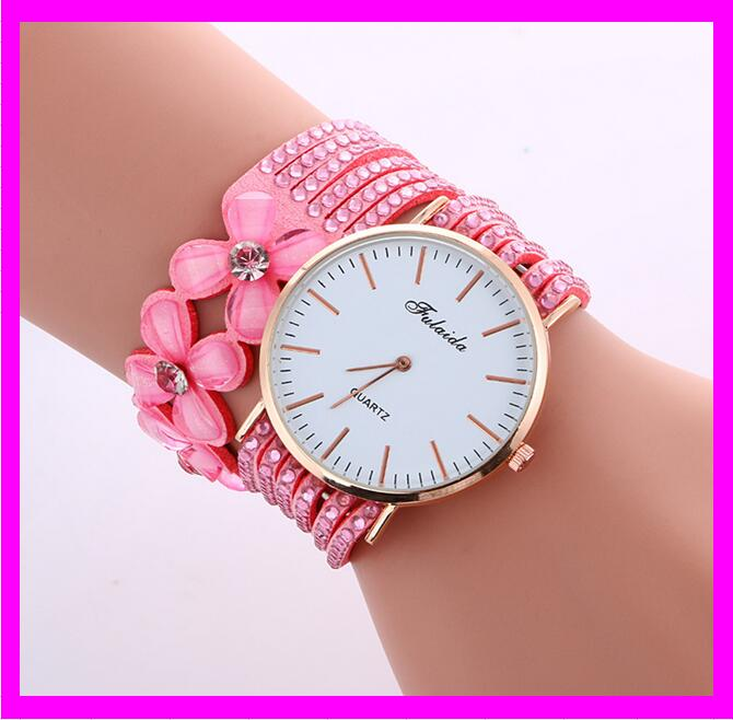 KDA2297 fashion latest cheap ladies leather western wrist watches