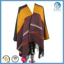hot sale winter warm woven shawl bohemian poncho shawl