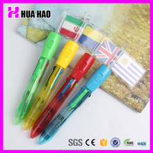 novelty and creavtive plastic ball pen with flag ball pen for slogan or portrait printing