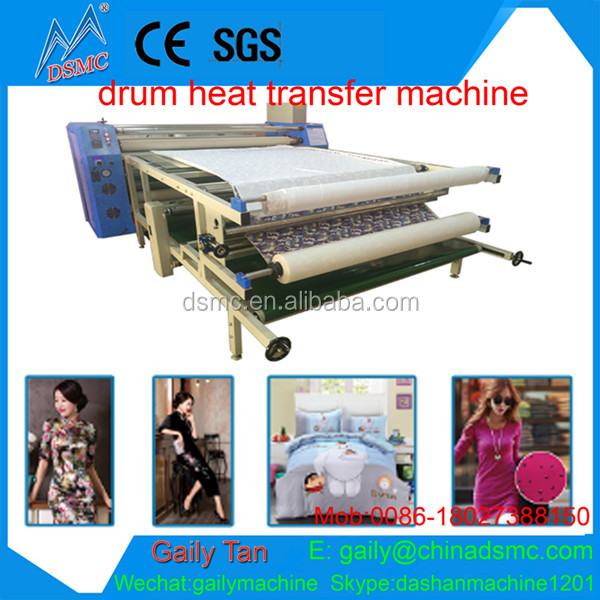 2017 roller heat transfer machine for flock printing machine for sale