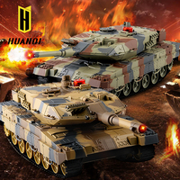 UNI-FUN HQ558 twin infrared battle rc sherman tank(2 pcs in one set) Huanqi rc battle tank