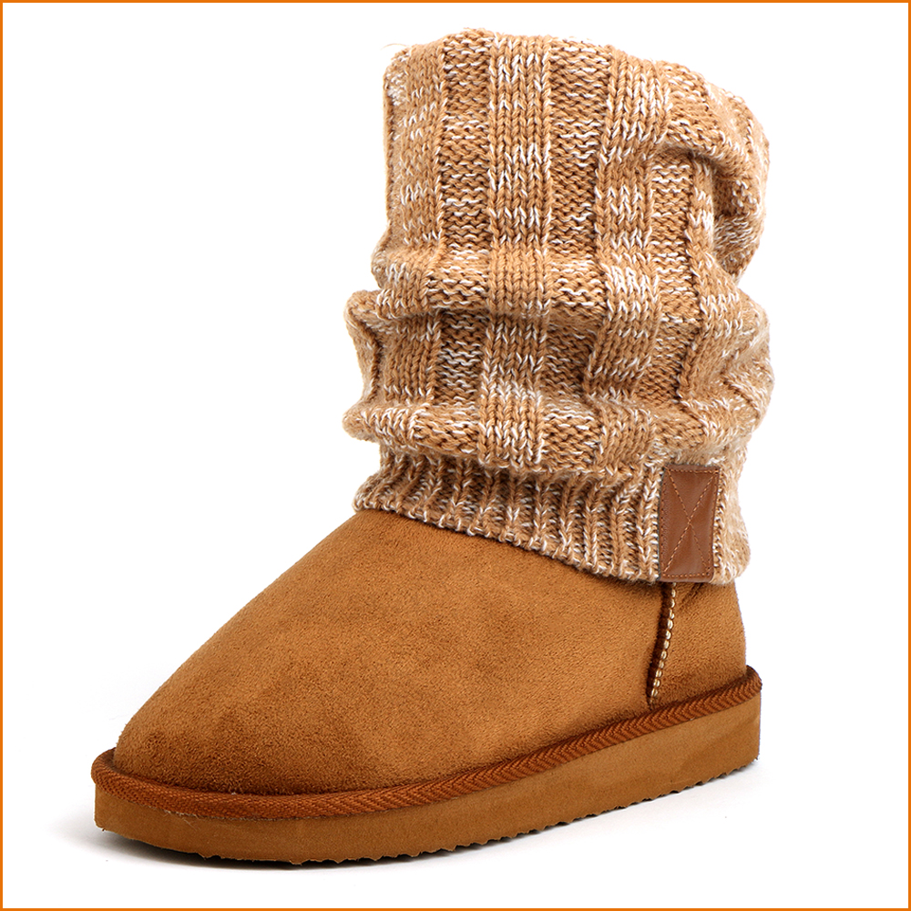 Canadian Custom flat sole winter boots Faux suede and terry material