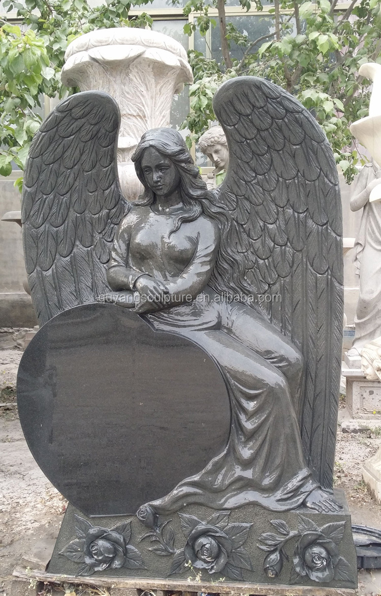 Granite Angel Memorial Tombstone and Monument
