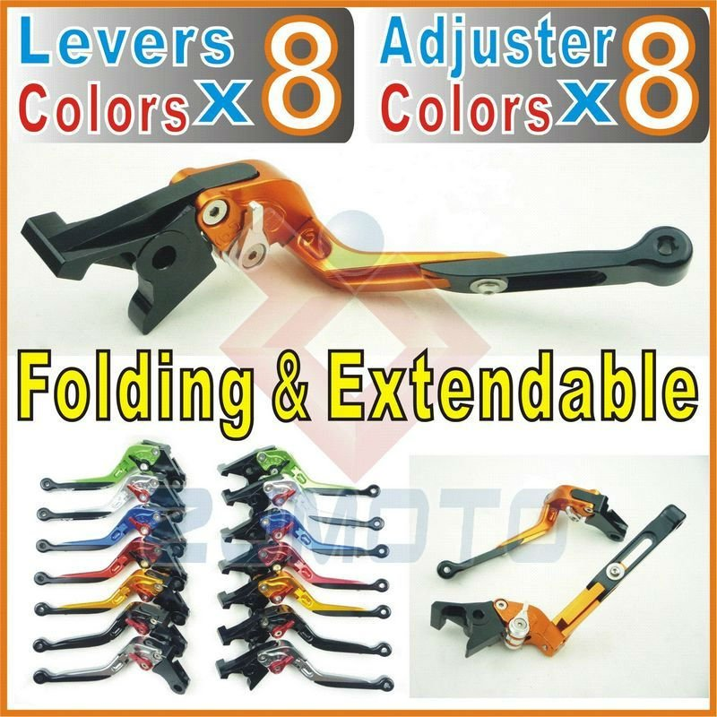 Folding Foldable Extendable Lever Adjustable brake clutch lever for GTR1400 / CONCOURS 14 2007-2011 08 09 10 11