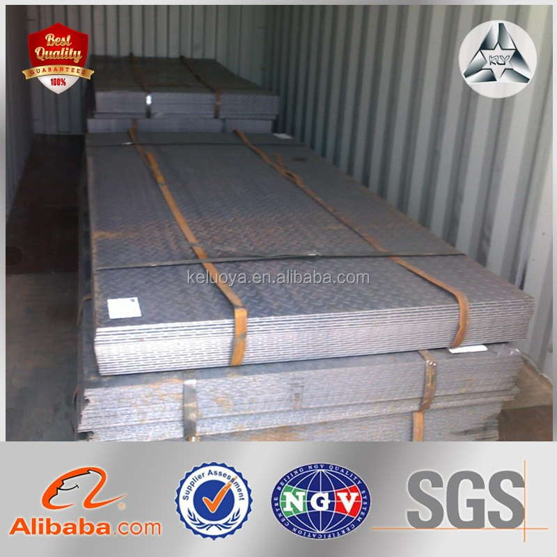 Weight of Building Construction Materials Chequered Steel Sheet Checkered Steel Plate Tile Checkered Plate