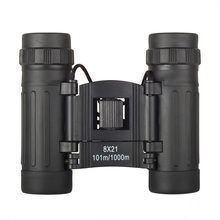 8X21 Pocket Palm-size Small Compact Folding Binocular Telescope for Kids & Adults with Hunting Sightseeing
