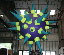 night club decoration the inflatable spiky ball with LED remote lights