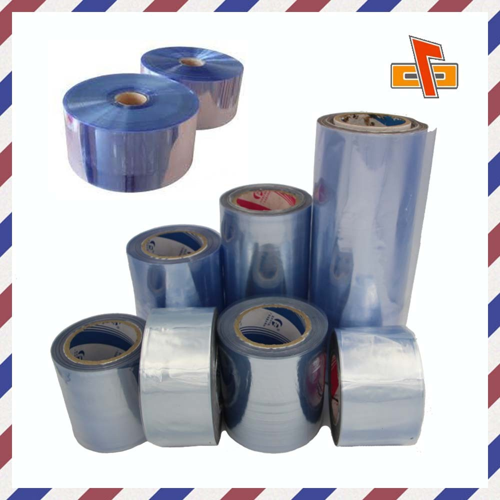 Chinese factory blue film pvc shrink sleeve high shrinkage for bottle or box packaging