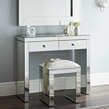 modern bedroom compact design mirrored dressing table
