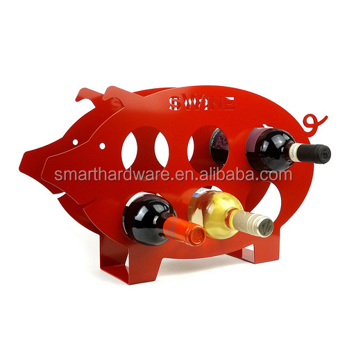 Beautiful PIG shaped metal wine storage rack Metal wine rack