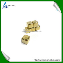 hot sales gold ice cube / Whiskey stone / Ice rocks for wine whiskey
