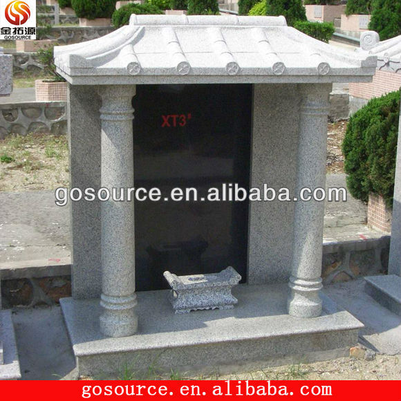 chines blank tombstone with pillar