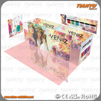 Custom Skin Care Products Trade Show Cosmetic Display, aluminum Cosmetic Booth Display