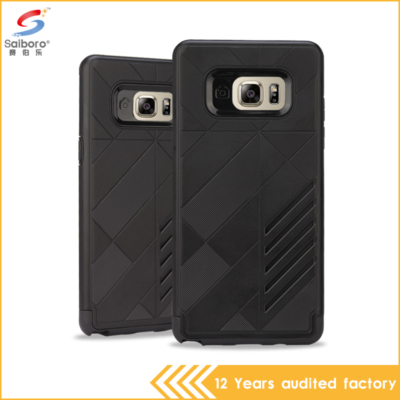 Black color high quality shockproof armor phone cover for samsung galaxy note 7