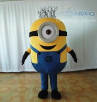 2015 Hot sale cheap kids cartoon despicable me minion mascot costume