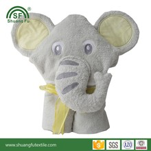100%cotton bamboo extra soft elephant baby hooded towel