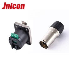500v guangdong nice panel mount ethernet xlr connector rj45 to rj45