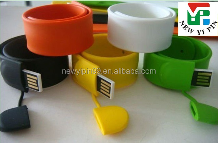 Customised cheap full capacity silicone bracelet USB flash driver 1-64gb
