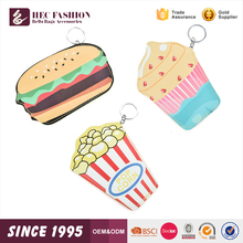 HEC Alibaba Online Shopping 40G Mini Lady Safe Wallet Food Pattern Money Bag