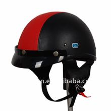 hot dot approved harley leather motorcycle helmet for men and women