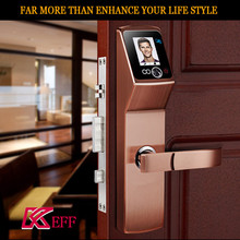 sliding wooden door lock face recognition digital combination brass cylinder