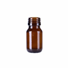 Latest product of china factory 25ml amber liquid glass bottle