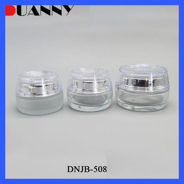 Whoelsale 30g 50g Glass Clear Cosmetic Cream Jar Container