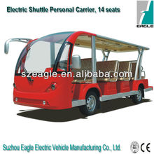 electric shuttle bus,shuttle personnel carrier,electric vehicle,EG6158K03,7KW AC -Automatic Driving system