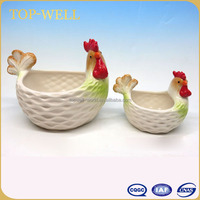 Easter ceramic chicken egg bowl