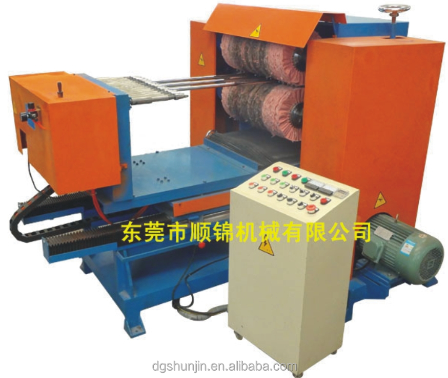 Double square tube pipe polishing machine