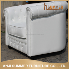 Leisure custom furniture wooden frame top leather sofa brands