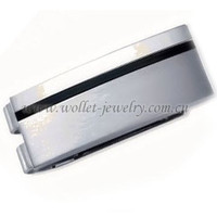 Money clips with customized logo for stainless steel wholesale jewerly.