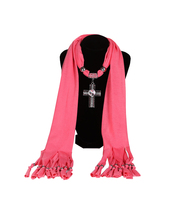 2016 Hot Sale Fashoin Women Casual Jewelry Accesspry Alloy Cross Pendant Scarf