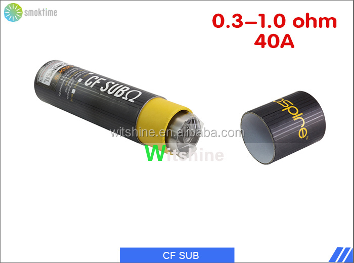 China wholesale e cigarette aspire sub ohm 2000mah battery