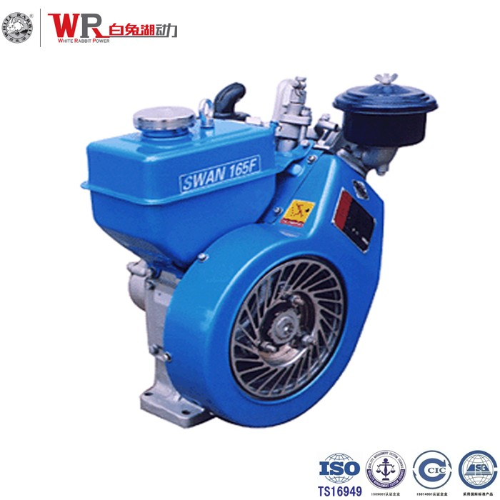 Chang zhou Air cooled 2.5hp 2600RPM diesel engine 165FC Aluminum body