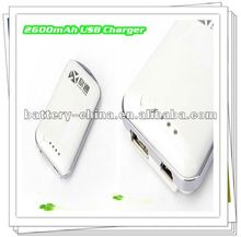 2600mAh Travel USB Tablet Charger for Samsung Galaxy S2/S3