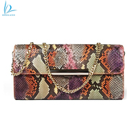 Latest design women genuine python leather skin shoulder bag