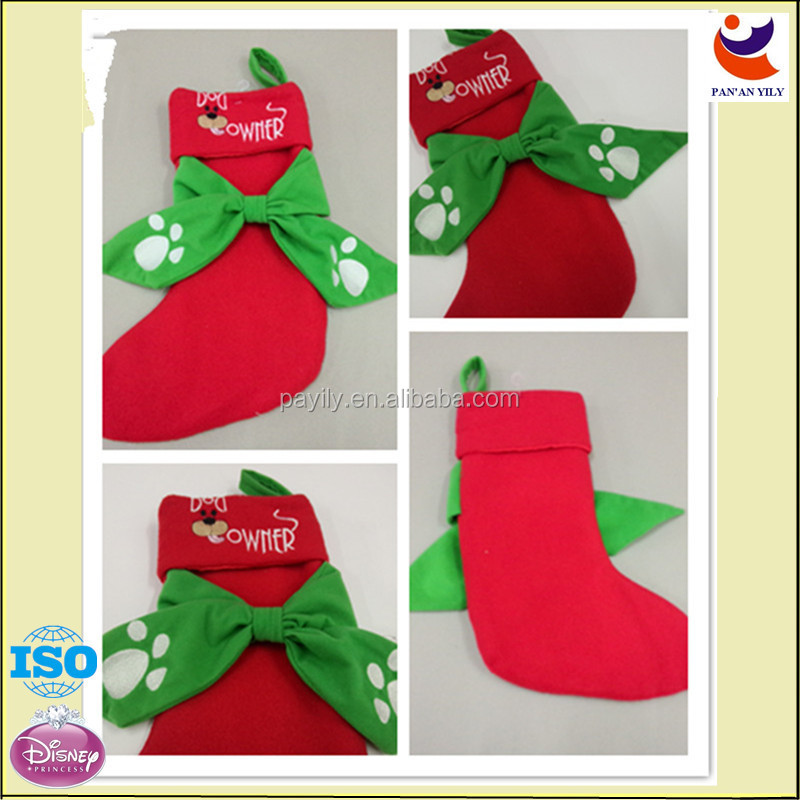hot sales new design christmas stocking needlepoint christmas stocking long christmas stocking