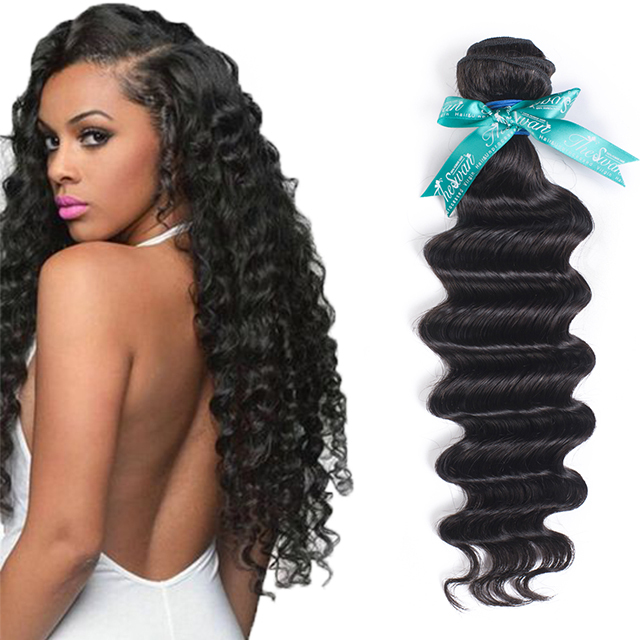 Shopping online 27 piece hair weave angel hair braids deep weave human hair extension in kenya