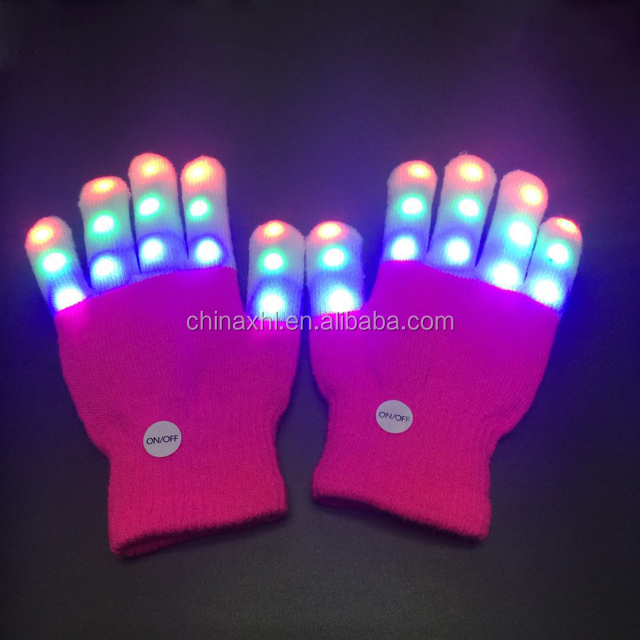 Children led luminous gloves