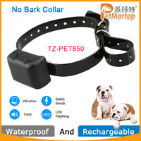 Best Selling No Bark Dog Training Electric Shock Control Collars TZ-PET850
