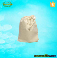 wholesale reusable small cotton calico drawstring bags