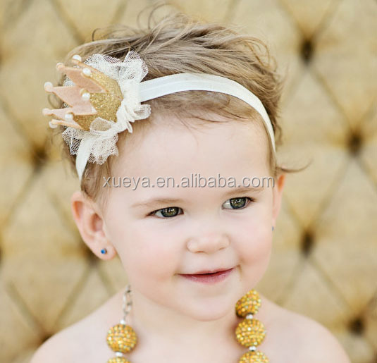 Wholesale princes pearl crown stylish yiwu hair accessories for babies