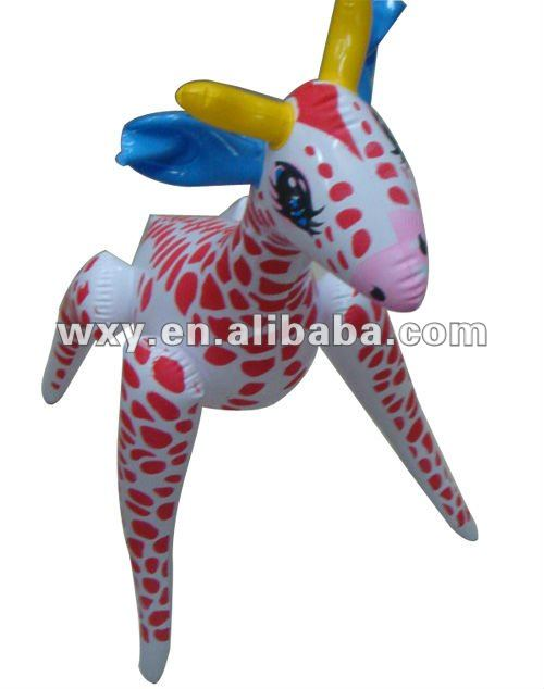 Promotional Inflatable animal shaoe children pvc toy for kid toys,cartoon print toys