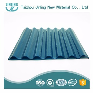 Color polycarbonate corrugated plastic sheets used as building roof and wall