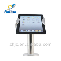 Adjustable metal detector security display tablet holder