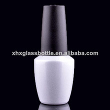 15Ml Soak Off White Colored Glass Gel Bottle For Gel Nail Polish Packaging
