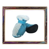 UW-PS-141 Pretty blue suede Pet snow boots for dog warm