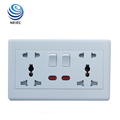 13A and 16A Double Multi function Socket with Neon Wall switch socket