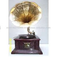 high end quality turntable gramophone with decorative vinyl records